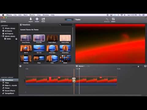 iMovie 10.0 Tutorial (1 of 2): Basic Editing and Transitions