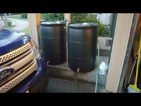 Rain Barrel Spigot Installation - How to install a spigot on a 55 gallon drum