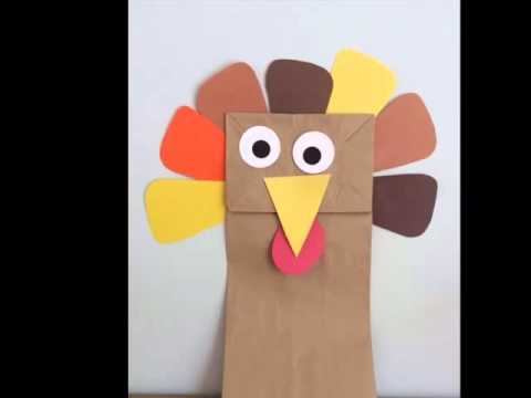 Paper Bag Turkey Craft  Diy Picture Ideas   Beautiful Handmade Set Of Collection