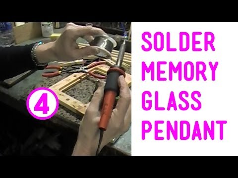Soldering the Memory Glass Pendant