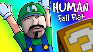 Human Fall Flat Funny Moments - What's Wrong With Luigi's Face?!!