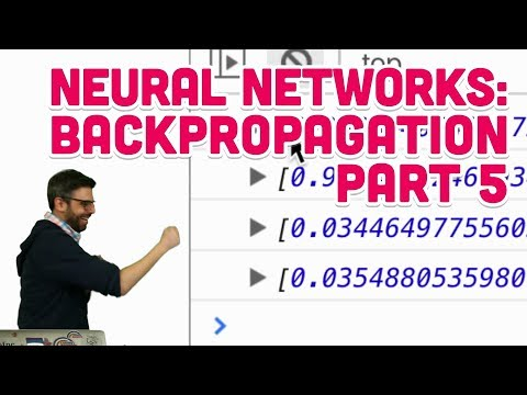 10.18: Neural Networks: Backpropagation Part 5 - The Nature of Code