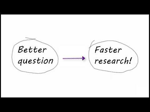 Preparing - Defining a Research Question and Doing Background Research (2017)