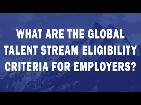 What are the Global Talent Stream eligibility criteria for employers?
