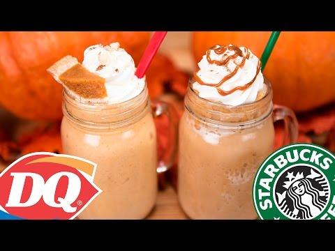 Homemade Starbucks Pumpkin Spice Frappuccino & DQ Pumpkin Pie Blizzard