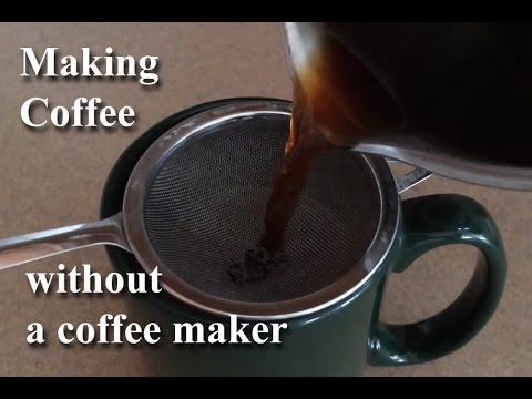 Making Coffee Without A Coffeemaker On the Stove GemFOX Food Stovetop | Campfire | Primitive Coffee