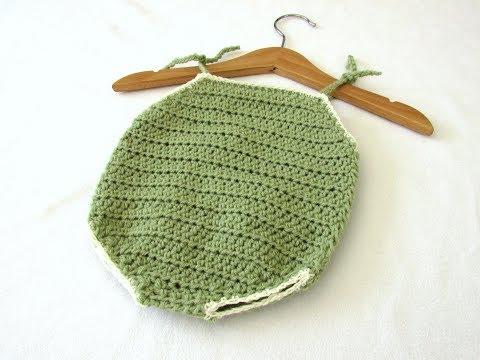 How to crochet a simple summer baby romper / onesie