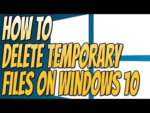 How To Delete Temporary Files On Windows 10 Without Third Part Programs   Deleting Temporary Files