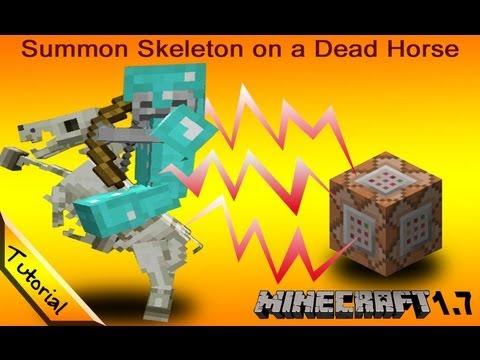 Tutorial: Summon a Skeleton on a Skeletal Horse. Minecraft 1.7