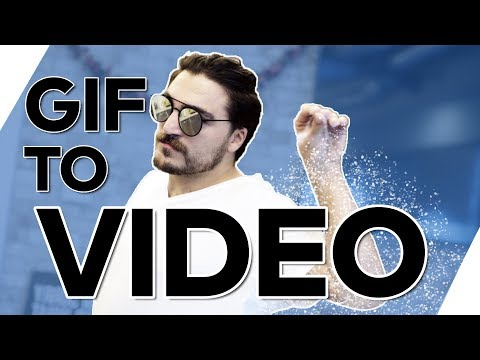 CONVERT a GIF into VIDEO Easily  --  (Gif to Mp4, Mov, Avi)