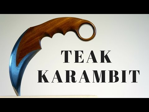 Making a Karambit (from old, rusty saw and teak wood)