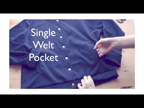 DIY Single Welt Pocketㅣmadebyaya