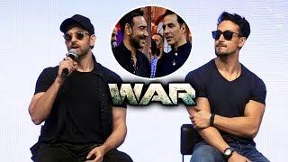 Hrithik Roshan Reaction On Ajay Devgn & Akshay Kumar's Comment   WAR Success Celebration
