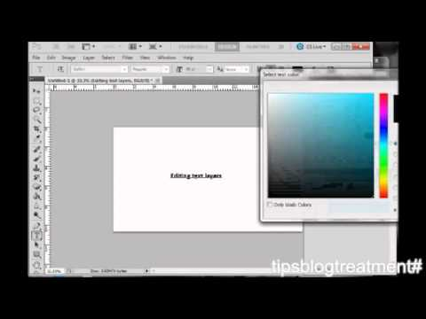 Tips How to Edit or Change Text in Photoshop CS5