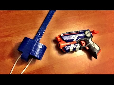[TUTORIAL] How to make a DROP LEG HOLSTER for the Nerf Firestrike