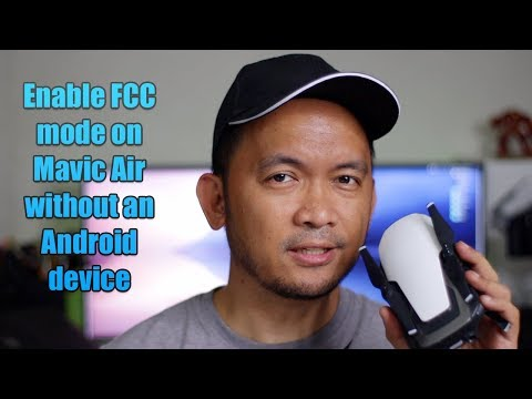 Enable FCC mode for Mavic Air / Spark using only Apple devices