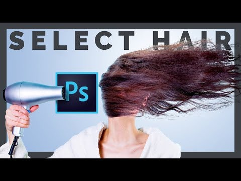How to Select Hair in Photoshop and Change Background