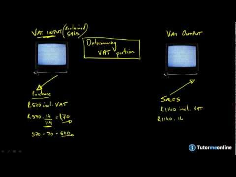 Determining the VAT portion and VAT input and output