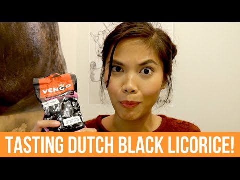 Tasting Dutch Drop | BLACK LICORICE CANDY!