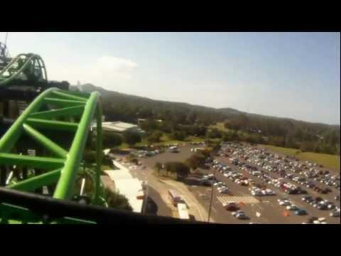 Green Lantern Coaster POV: Movie World