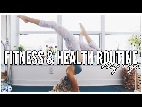 MY FITNESS ROUTINE | Yoga, Health & Wellness