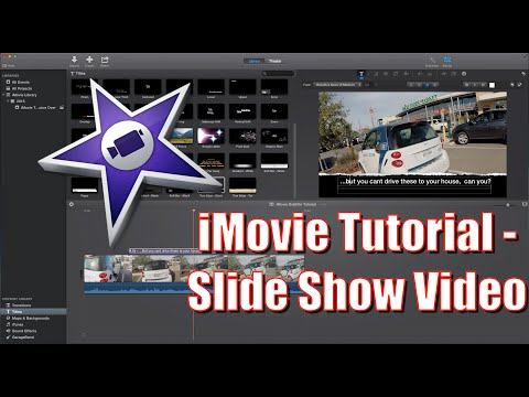 How To Make a Slide Show Tutorial for iMovie 2015