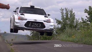 Thierry Neuville Test Rallye Deutschland 2017 | Big jumps & flatout action