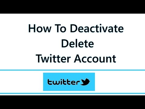 How To Deactivate Twitter Account