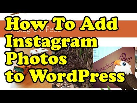 How to add Instagram Photos to WordPress - 2015