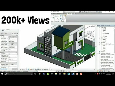 Modern House Design In Revit Architecture Tutorial #5