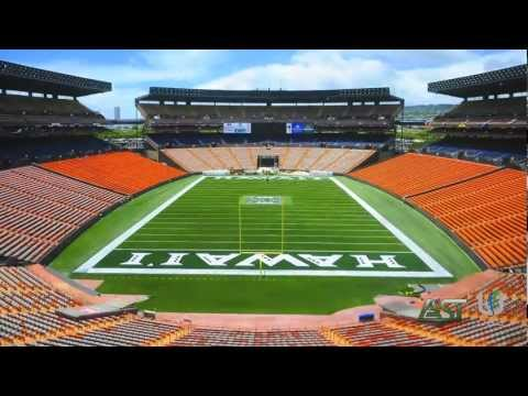 Timelapse of the surface renovation and synthetic turf installation at Aloha Stadium