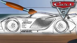 Cars Jackson Storm Lightning Mcqueen Coloring Book Pages Video