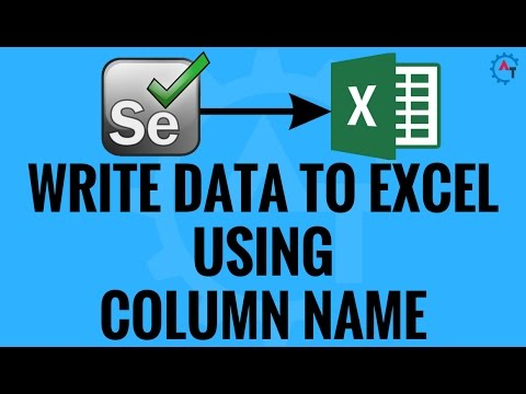 Write Data To Excel Using Column Name