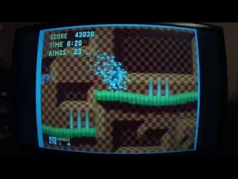 Drunk casual Sonic 1 playthrough gameplay - Sega Genesis