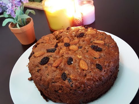Christmas Fruit 'n Nut Cake |Pressure Cooker and Oven method