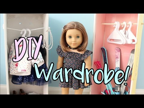 DIY American Girl Doll Wardrobe/Closet (EASY!)