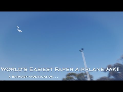World's Easiest Paper Airplane MKII flies high
