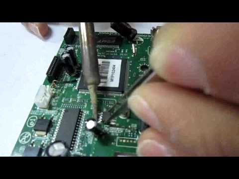 HOW TO REPLACE CHIP FOR EPSON T13/TX121 TO L100/200