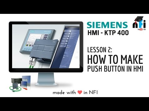 Siemens KTP 400 - How to make Push Button on HMI screen?
