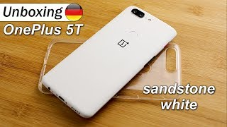 OnePlus 5T Sandstone White | Unboxing & OnePlus One Throwback (DEU/GER)
