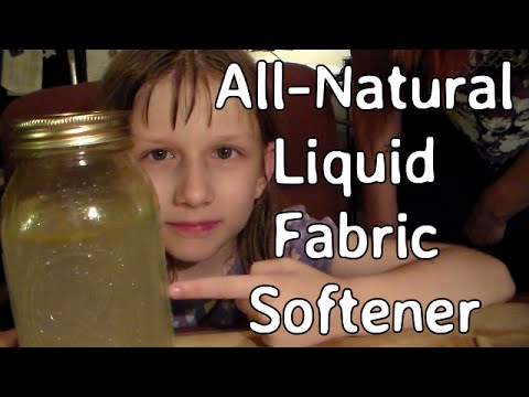 DIY All Natural Liquid Fabric Softener