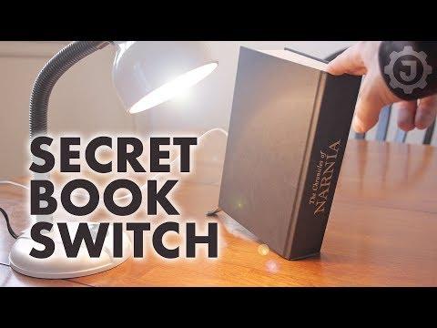 A Secret Hidden Switch for Your Bookshelf
