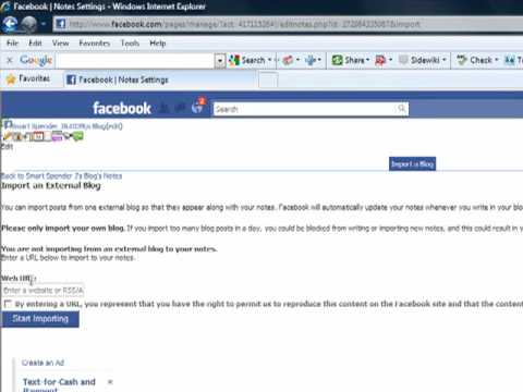 How to Import a Blog into a Facebook Fan Page