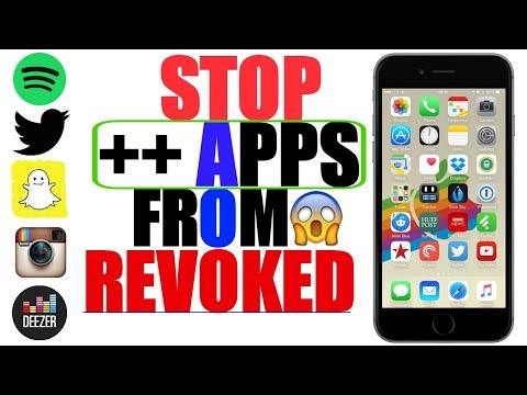 iOS 11/ iOS 9-10.3.3: STOP ALL ++ APPS FROM REVOKED/CRASH_ Spotify ++, Snapchat ++, Deezer ++ & MORE