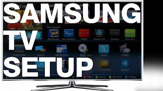 Samsung Smart Tv Turning On For The First Time Setup Guide Manual