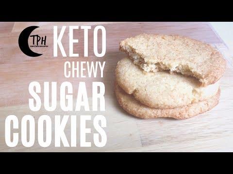 Keto Chewy Sugar Cookies | Low-Carb Vanilla Cookie Recipe