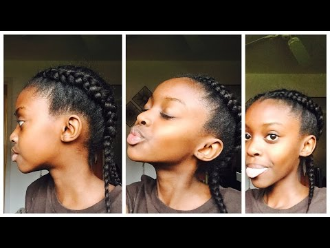 How to make a Dutch braid on your own hair//on African hair🌺