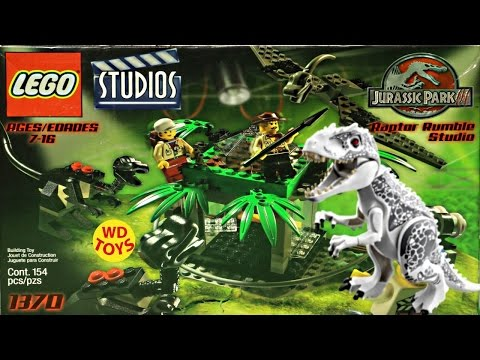 Lego Raptor Rumble Studio Jurassic Park Vs Indominus Rex Jurassic World 1370 Unboxing Speed Build