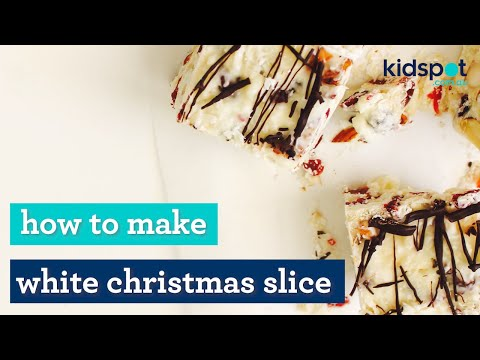 Easy Christmas recipe: How to make white Christmas slice