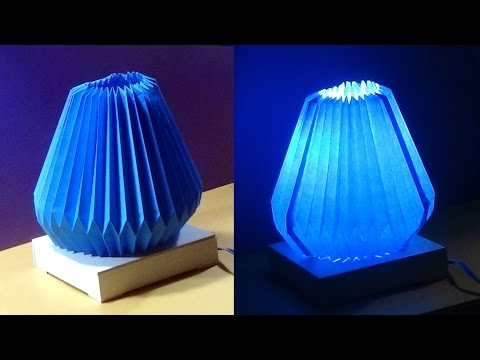 DIY Home Decor - Making A Lampshade/Lantern With Folding Color Papers  